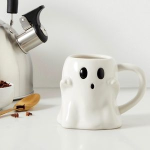 White Halloween Ghost Coffee Mug